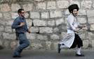 Jewish person fleeing